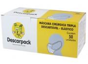 Mascara Descartável tripla c/ elástico - 50 und. ESGOTADO;